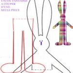 patron couture gratuit lapin
