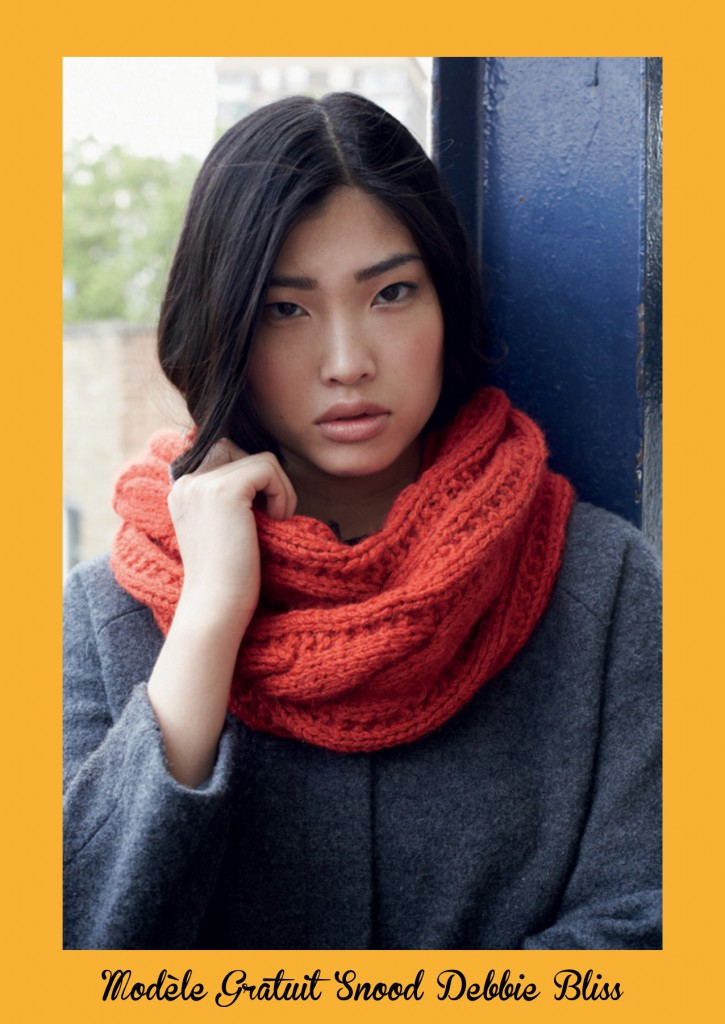 patron gratuit tricot snood femme
