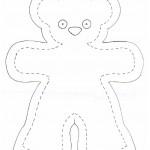 patron gratuit d'ours en tissus