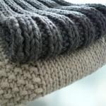 patron gratuit tricot foulard homme