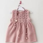 modèle gratuit tricot robe bébé