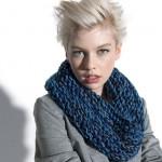 modèle gratuit tricot snood