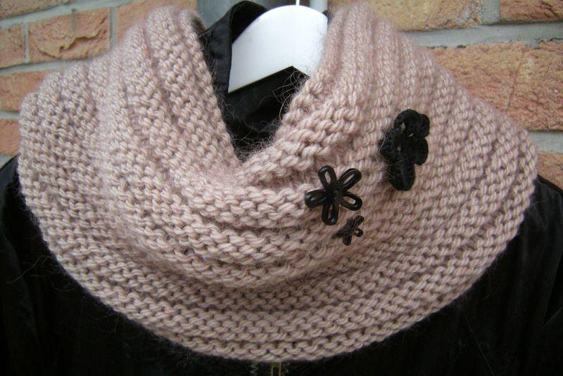 tricoter un snood modele gratuit