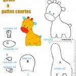 patron couture gratuit girafe