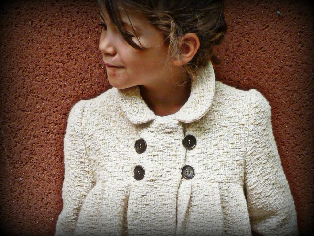 patron gratuit manteau fille