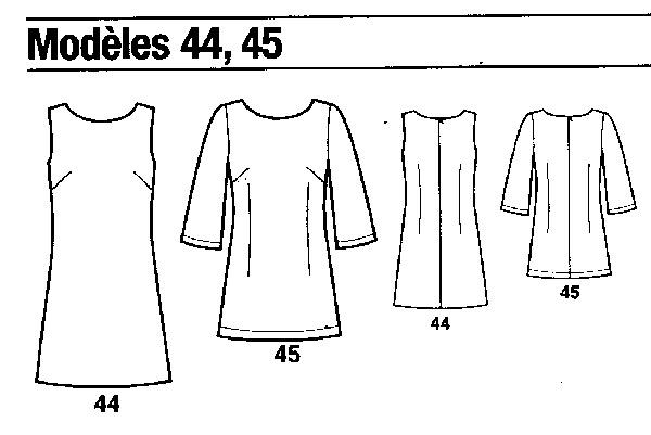 patron couture robe droite gratuit