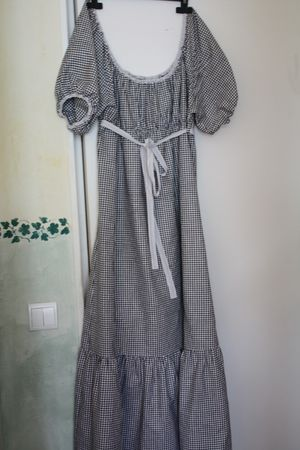 patron gratuit robe manche longue