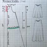 patron gratuit robe trapèze fille