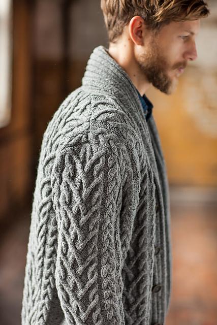 tricoter un gilet homme