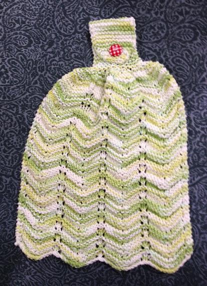 patron tricot gratuit essuie-mains
