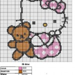 patron tricot gratuit hello kitty