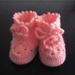 modèle gratuit crochet chausson bébé