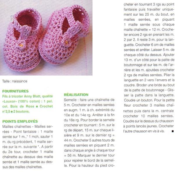 Modèle Modèle Gratuit Crochet Chausson Bébé