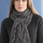modèle gratuit tricot foulard