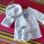 modèle gratuit tricot layette fille