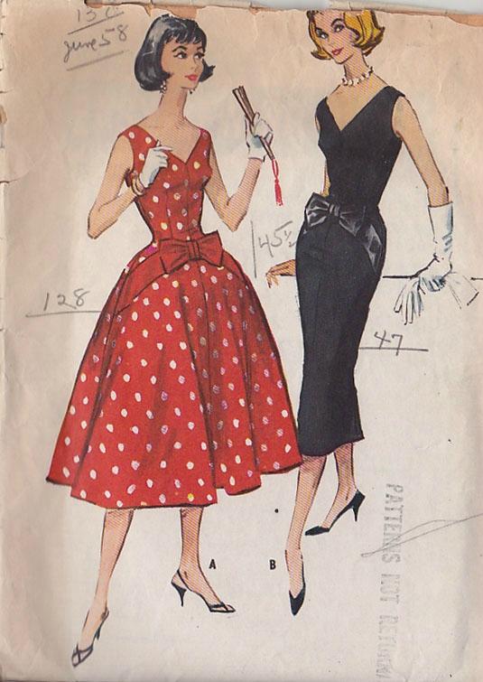 exemple patron couture gratuit robe vintage
