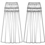 patron gratuit pour jupe longue