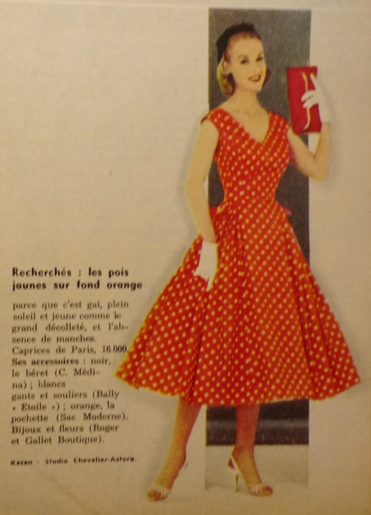 patron gratuit robe vintage année 50