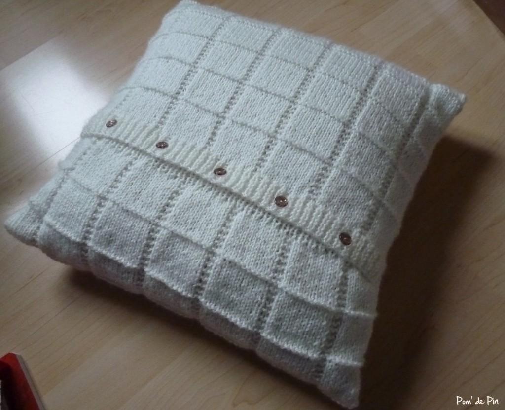 patron tricot coussin