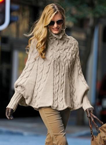 Patron gratuit tricot poncho femme - Cote 2 2 tricot ...
