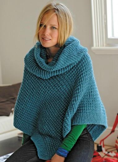 Laine Katia BOLIVIA modèle à tricoter poncho femme