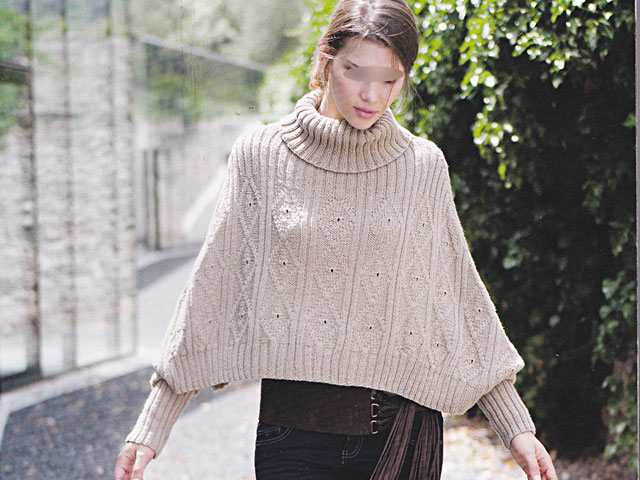 poncho a tricoter modele gratuit