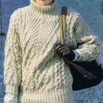 patron tricot gratuit pull irlandais