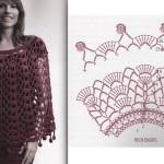 patron gratuit crochet poncho