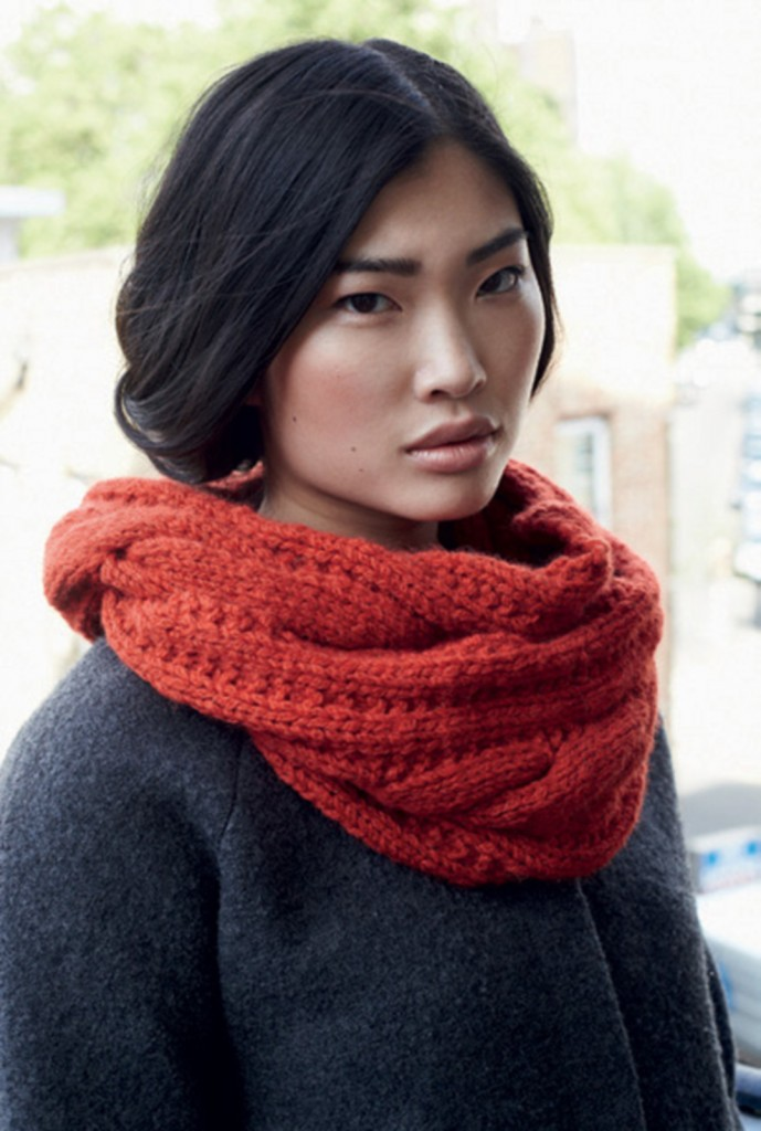 patron gratuit de foulard au tricot