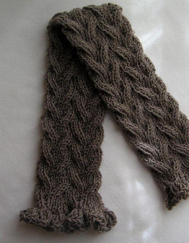 371c669655c Photo patron gratuit de foulard au tricot