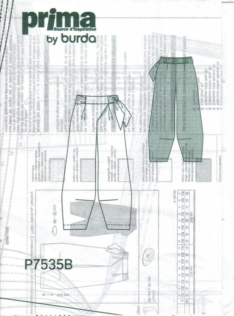 patron gratuit pantalon