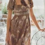 patron gratuit robe empire femme