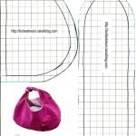 patron gratuit sac en bandoulière