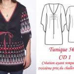 patron gratuit tunique femme