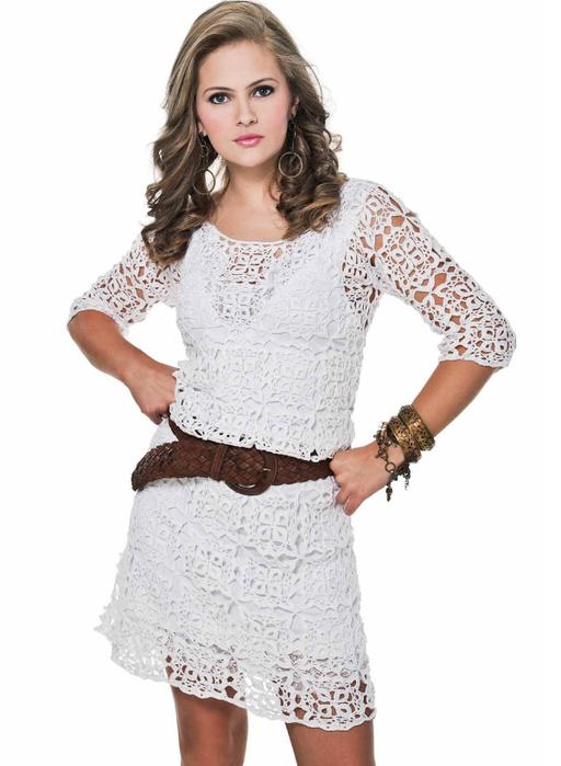 Patron gratuit robe femme crochet