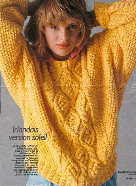 modèle gratuit tricot irlandais