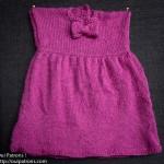 modèle gratuit tricot robe fille