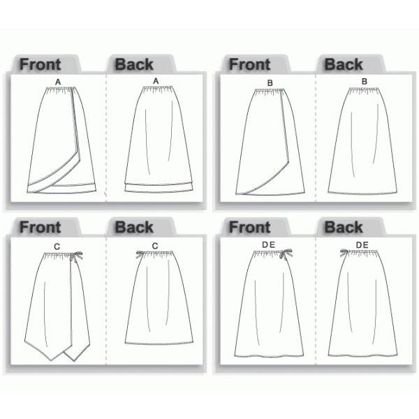 patron couture gratuit jupe portefeuille