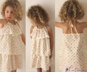 patron gratuit couture robe fille