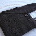 patron gratuit gilet bébé tricot