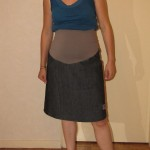 patron gratuit jupe de grossesse