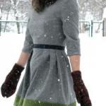 patron gratuit robe d'hiver