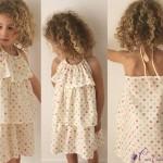 patron gratuit robe fillette