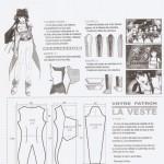 patron gratuit robe manga