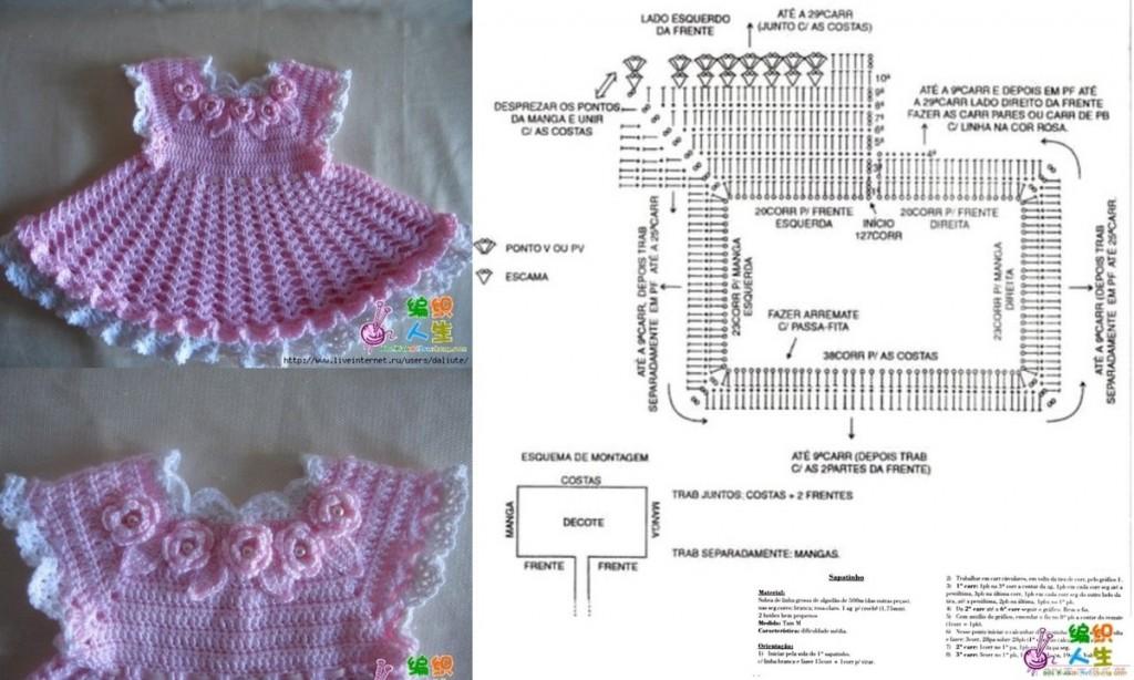 patron robe crochet gratuit