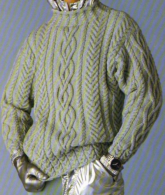 modele gratuit tricot irlandais homme