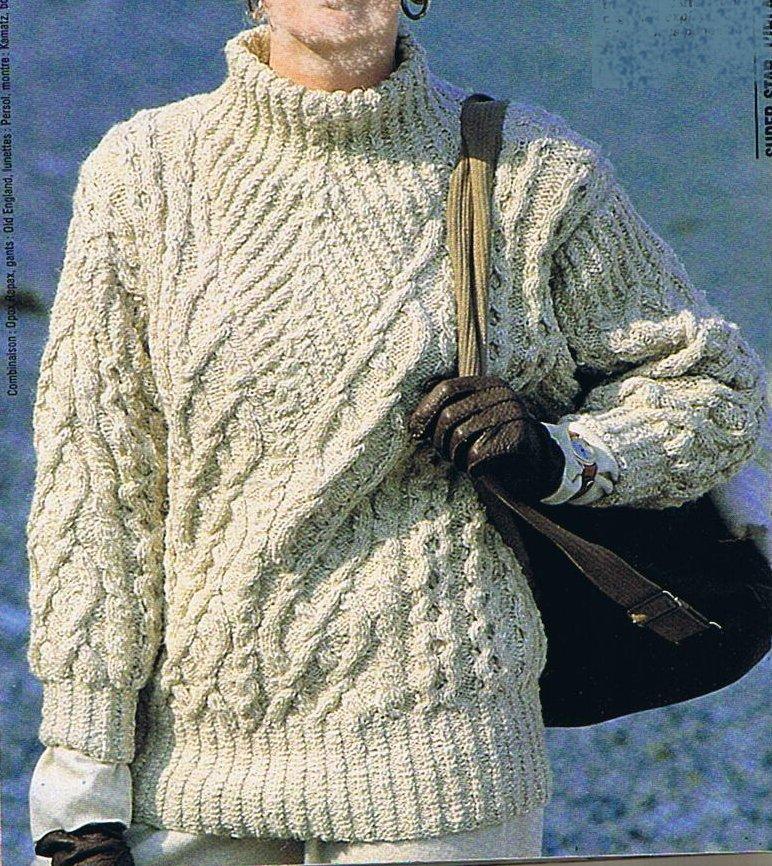 modèle tricot pull irlandais