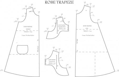 patron couture gratuit jupe trapeze