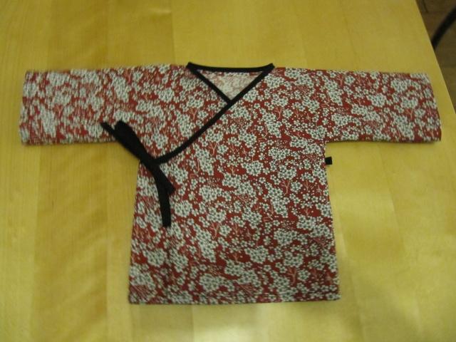 patron gratuit kimono bébé