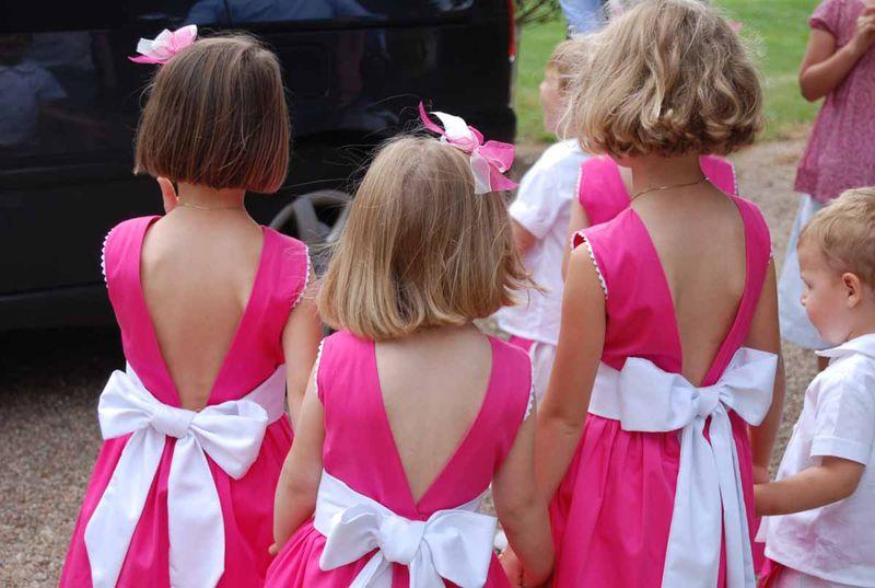 Patron robe de petite fille d'honneur